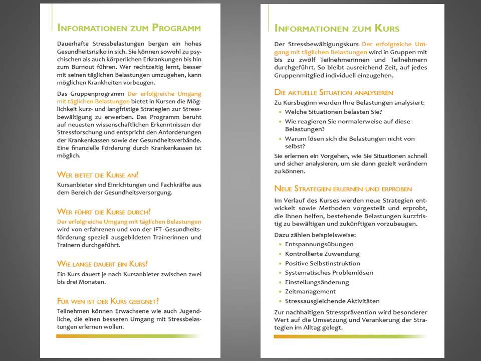 Flyer Stressfrei 2014 Seite 2