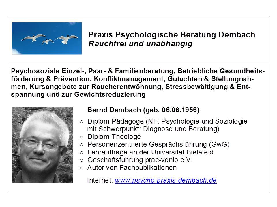 Visitenkarte Praxis Dembach 2014