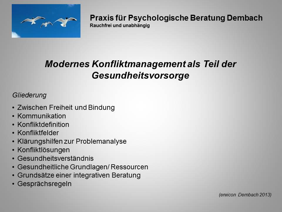 Konfliktmanagement-Gesundheit 2013