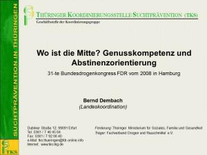SP Genuss oder Abstinenz FDR 2008